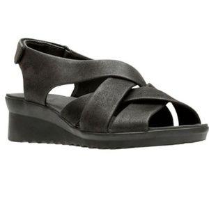 Clarks cloudsteppers caddel jena wedge sandals